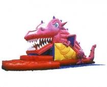 דרקון ורוד-מגלשה מתנפחת